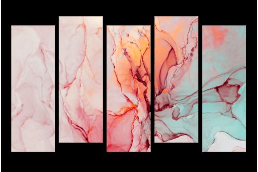 Модульная картина Абстракция Бордовая