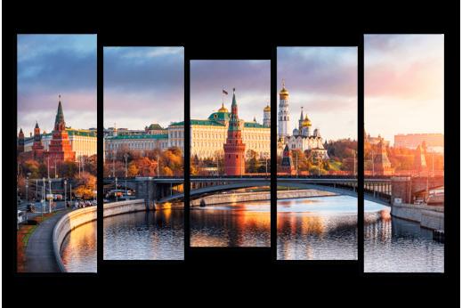 Модульная картина Московский Кремль