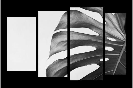 Модульная картина Лист