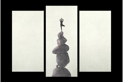 Модульная картина Баланс на камнях