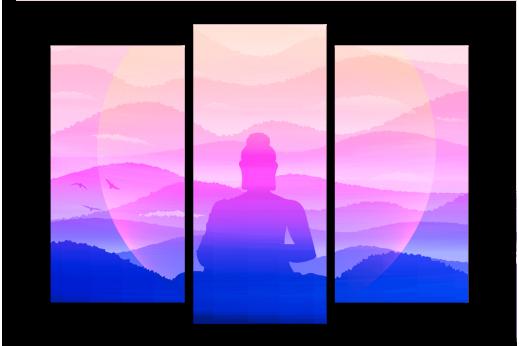 Модульная картина Погружение в медитацию